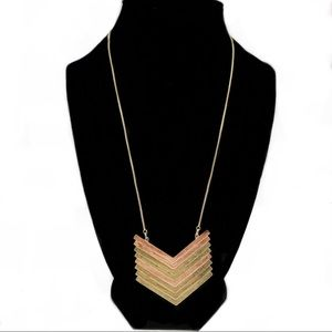 Trendy Madewell Brushed Gold Long Necklace